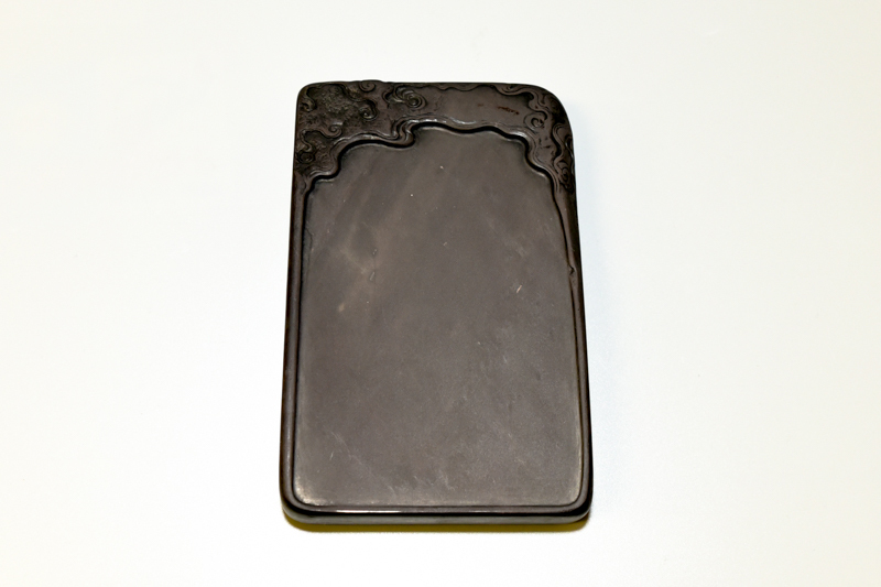 7 端渓老坑石 荷葉天然硯 ¥300,000